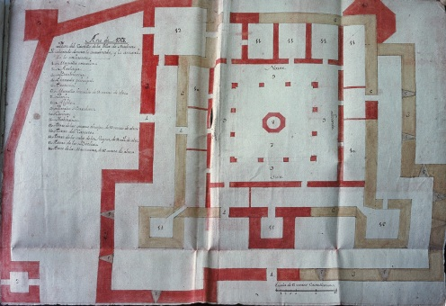 Plano del Castillo de San Pedro de 1768