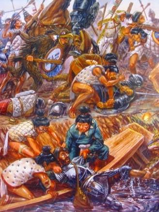 13.Soldado español y mayas