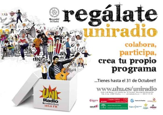 """Cartel de la promoción """"Regálate uniradio"""""""