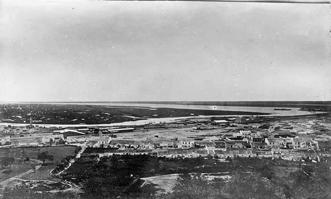 Vista de Huelva a finales del siglo XIX