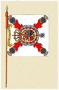 Bandera del regimiento de  Cangas de tineo