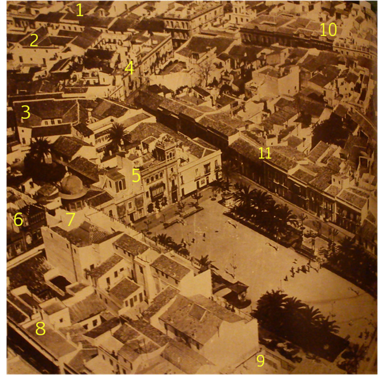 Vista aérea de Huelva años 20