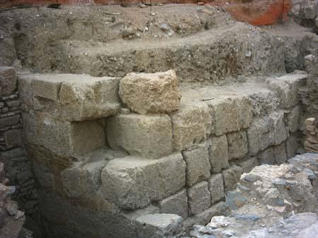 Otra sección del mismo muro