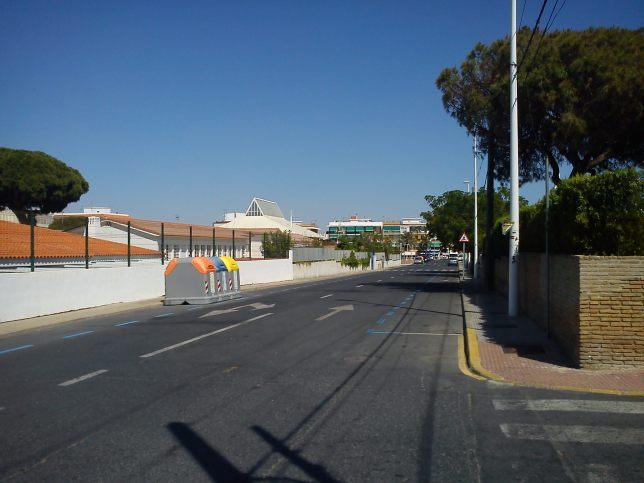 ¿El desierto de Gobi? no, una calle de Punta Umbría