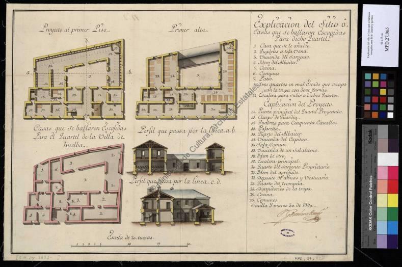 Proyecto Cuartel de Caballeria para la Villa de Huelva